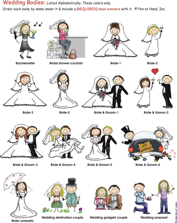 wedding bodies pen at hand stick figure products by ronnie horowitz