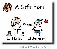 Gift Stickers B - Color Stick Figures - click to enlarge