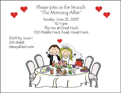 wedding invitations and cards from pen at stick figure