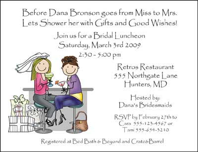 Invitation Wedding Shower Cocktails