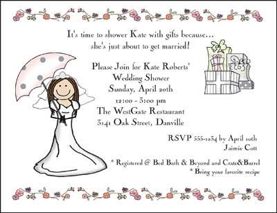 Invitation Wedding Shower Umbrella