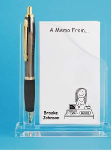 personalized memo holder