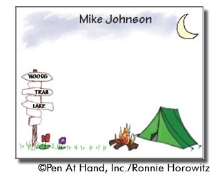 personalized theme card camping