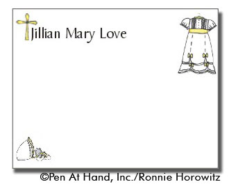 personalized theme card Christening