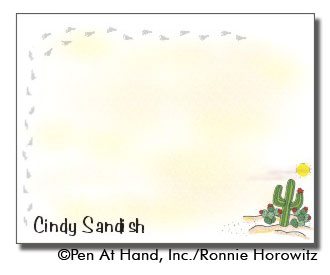 personalized theme card Desert
